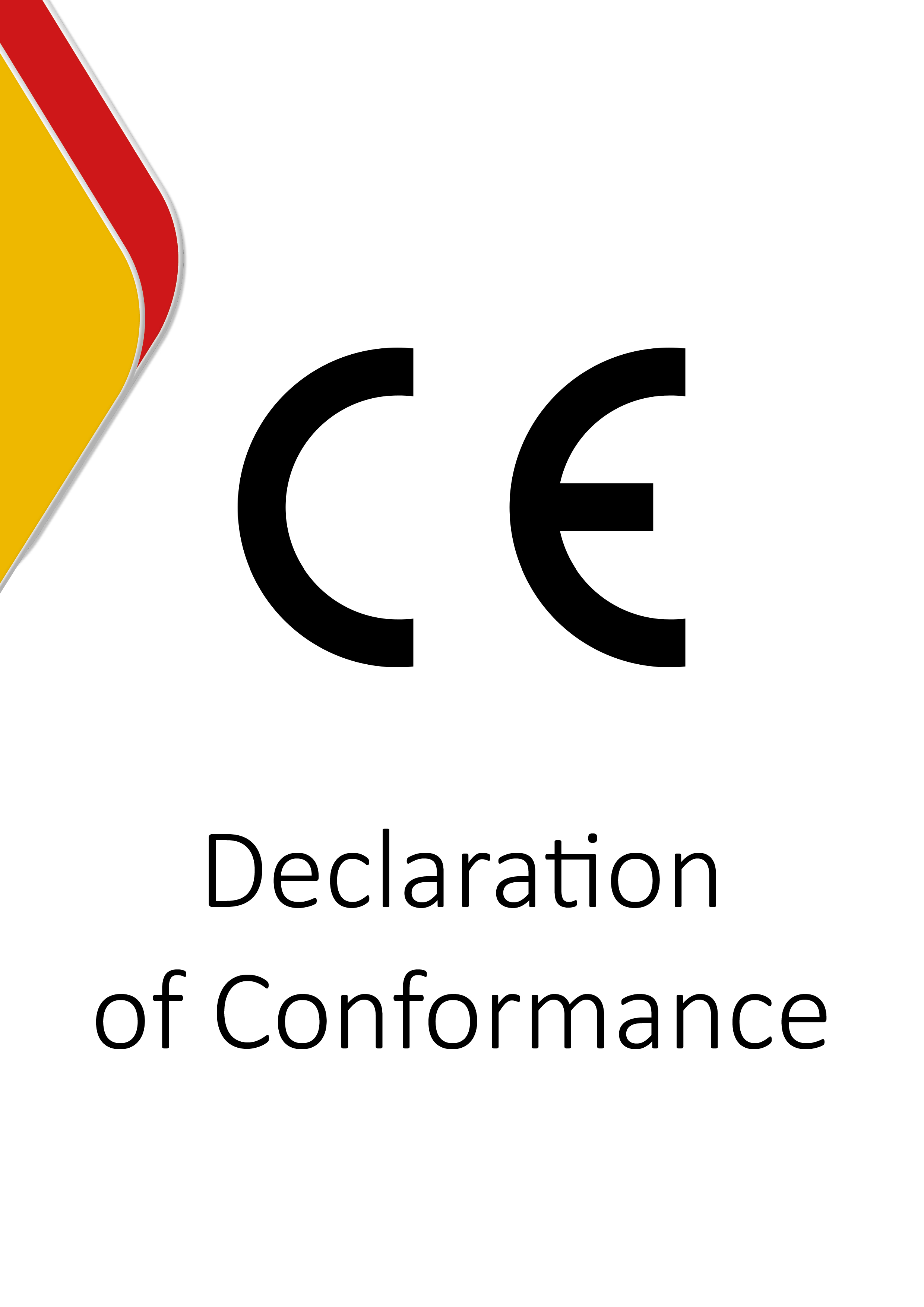 CE - Declaration of Conformance