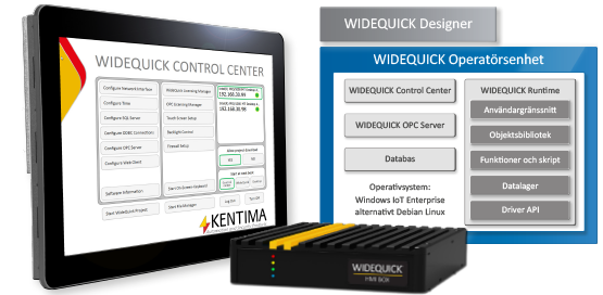 WideQuick Control Center HMI SCADA operatorpanels operatorboxes